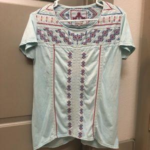 JWLA Light Blue Aztec Shirt
